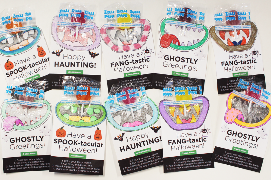 Printable Monster Mouths! Lollipop Template for Halloween Crafts