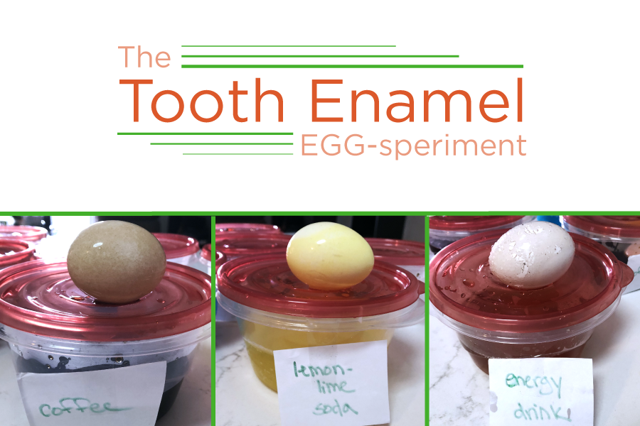 What's Staining Our Tooth Enamel? | The Tooth Enamel Egg-speriment [VIDEO]