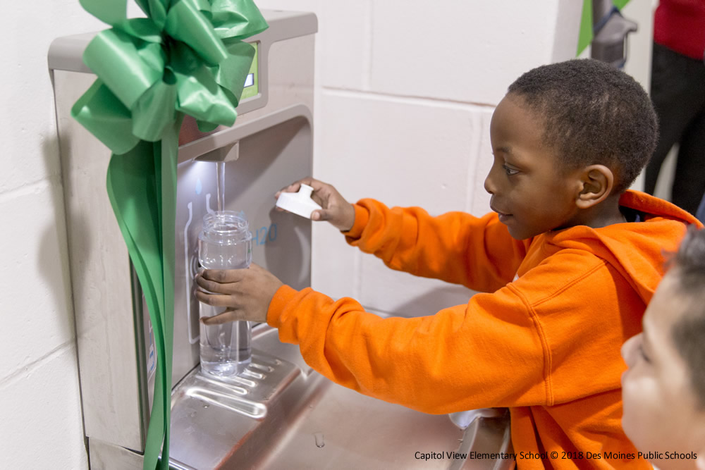Rethink Your Drink Program Installs 61 Additional Water Bottle Filling Stations in Iowa Schools