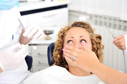 Scared Girl At Dentists Teeth Checkup