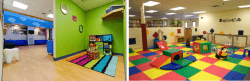 A dentist office reception area (L, Image via Paramount Pediatrics) and a play area (R, Image via ExploreZone). They'll never want to leave the dentist!