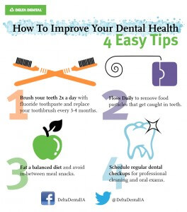4 Tips for Your Oral Health [INFOGRAPHIC]
