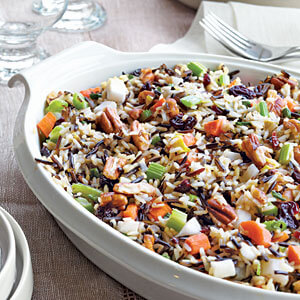 Wild Rice Stuffing with Toasted Pecans